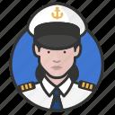 avatar, avatars, military, navy, uniform, woman icon