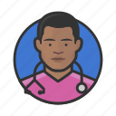 african, avatar, avatars, doctor, male, nurse, physician icon