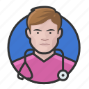 avatar, avatars, doctor, man, nurse, physician icon