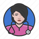 avatar, avatars, doctor, nurse, physician, woman icon