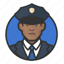 african, avatar, avatars, cop, man, police icon