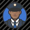 african, avatar, avatars, cop, man, police icon