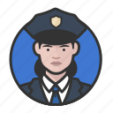 avatar, avatars, cop, police, woman icon