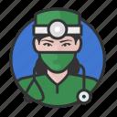 avatar, avatars, doctor, physician, surgeon, woman icon