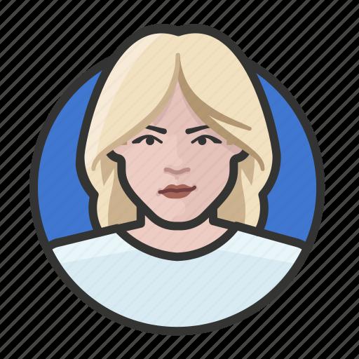 avatar, avatars, blonde, woman icon