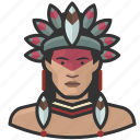 avatar, avatars, brazilian, indian, man, tribal icon