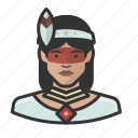 avatar, avatars, brazilian, indian, tribal, woman icon