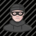 avatar, avatars, burglar, heist, man, thief icon