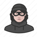 avatar, avatars, burglur, criminal, heist, thief, woman icon