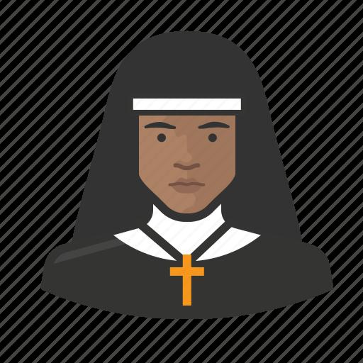 african, avatar, avatars, catholic, nun, sister icon