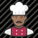 african, avatar, avatars, chef, food, kitchen, man icon