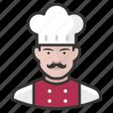 avatar, avatars, chef, food, kitchen, man icon
