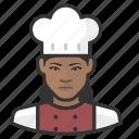 african, avatar, avatars, chef, food, kitchen, woman icon