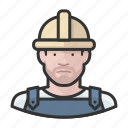 avatar, avatars, construction, hardhat, man icon