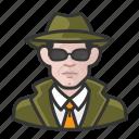avatar, avatars, detective, man, private eye icon