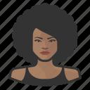 african, afro, avatar, avatars, big hair, disco, woman