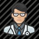 asian, avatar, avatars, doctor, healthcare, man, physician icon