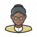 african, avatar, avatars, elderly, grandmother, granny, woman icon