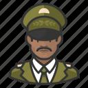 african, avatar, avatars, general, man, military, uniform