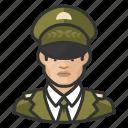 asian, avatar, avatars, general, man, military, uniform icon