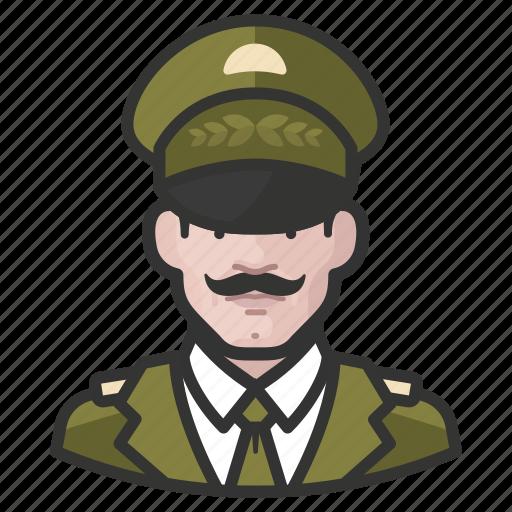 general, man, white icon