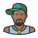 african, avatar, avatars, baseball cap, hat, hiphop, man