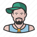 avatar, avatars, baseball cap, hat, hiphop, man icon