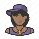 african, avatar, avatars, baseball cap, hat, hiphop, woman icon