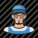 asian, avatar, avatars, beanie, glasses, hipster, man