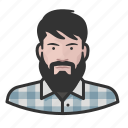 avatar, avatars, beard, flannel, hipster, man