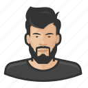 asian, avatar, avatars, beard, hipster, man