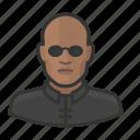 african, avatar, avatars, man, matrix, morpheus icon