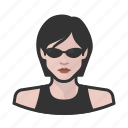avatar, avatars, female, matrix, trinity, woman icon