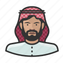 arab, avatar, avatars, man, muslim, religion, turban icon