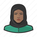 african, avatar, avatars, hijab, muslim, religion, woman icon