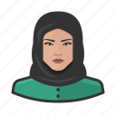 arab, avatar, avatars, hijab, muslim, religion, woman icon
