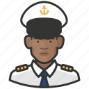 african, avatar, avatars, man, military, navy, uniform icon