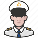 avatar, avatars, male, man, military, navy, uniform icon