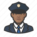 african, avatar, avatars, cop, law enforcement, man, police icon
