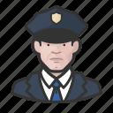 avatar, avatars, cop, law enforcement, man, officer, police icon