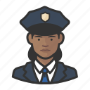 african, avatar, avatars, cop, law enforcement, police, woman icon