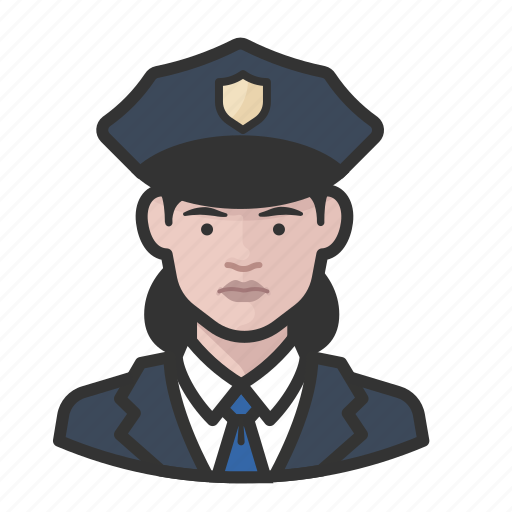 avatar, avatars, cop, law enforcement, police, woman icon
