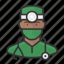 african, avatar, avatars, doctor, man, physician, surgeon icon