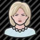 avatar, avatars, hillary clinton, pearls, woman icon