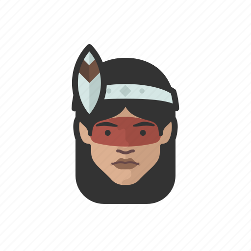 avatar, avatars, brazilian, indian, tribal, woman icon