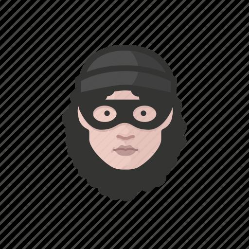 avatar, avatars, burglur, heist, thief, woman icon