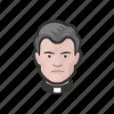 avatar, avatars, catholic, father, preacher, priest icon