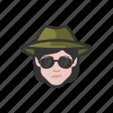 avatar, avatars, detective, investigator, secret agent, woman icon