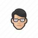 asian, avatar, avatars, glasses, man icon