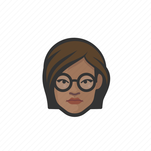 african, avatar, avatars, glasses, woman icon
